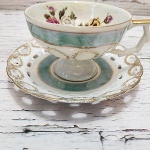 Vintage Oakwood Japan Lusterware Teacup and Saucer